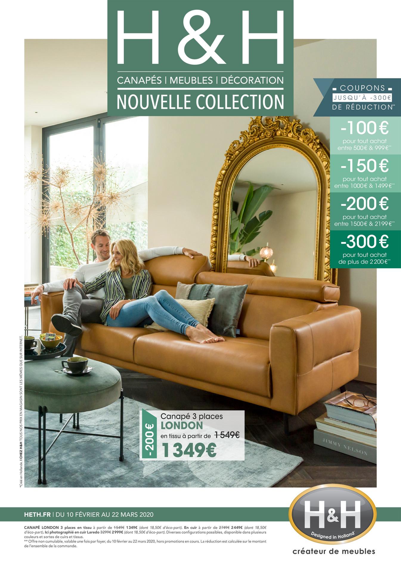 H&H créateur de meubles NOUVELLE COLLECTION DU 10 FÉVRIER